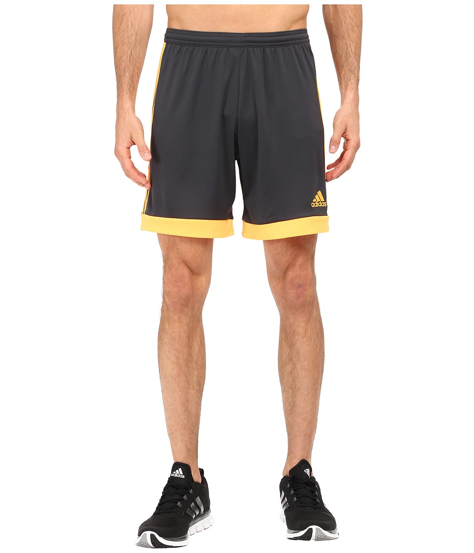 adidas - Tastigo 15 Dry Dye Short (Dark Grey/Solar Gold) Men's Shorts