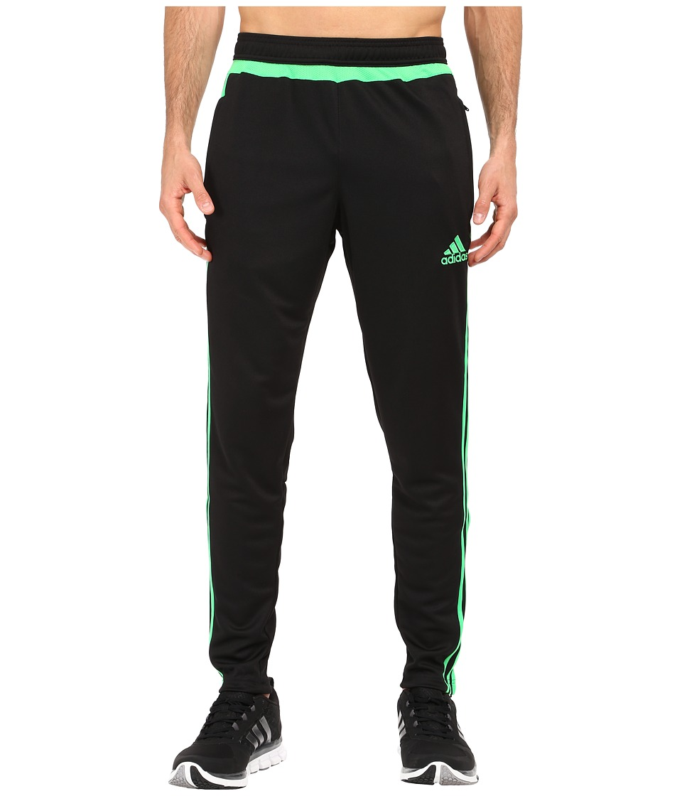 adidas - Tiro 15 Training Pant (Black/Solar Lime) Men's Workout