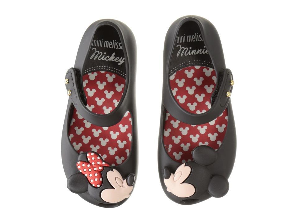 Mini Melissa - Ultragirl + Disney Twins (Toddler) (Black) Girl's Shoes