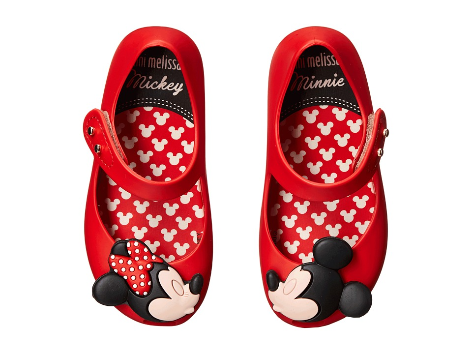 Mini Melissa - Ultragirl + Disney Twins (Toddler) (Red) Girl's Shoes