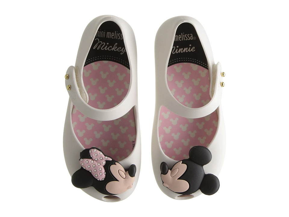 Mini Melissa - Ultragirl + Disney Twins (Toddler) (White) Girl's Shoes