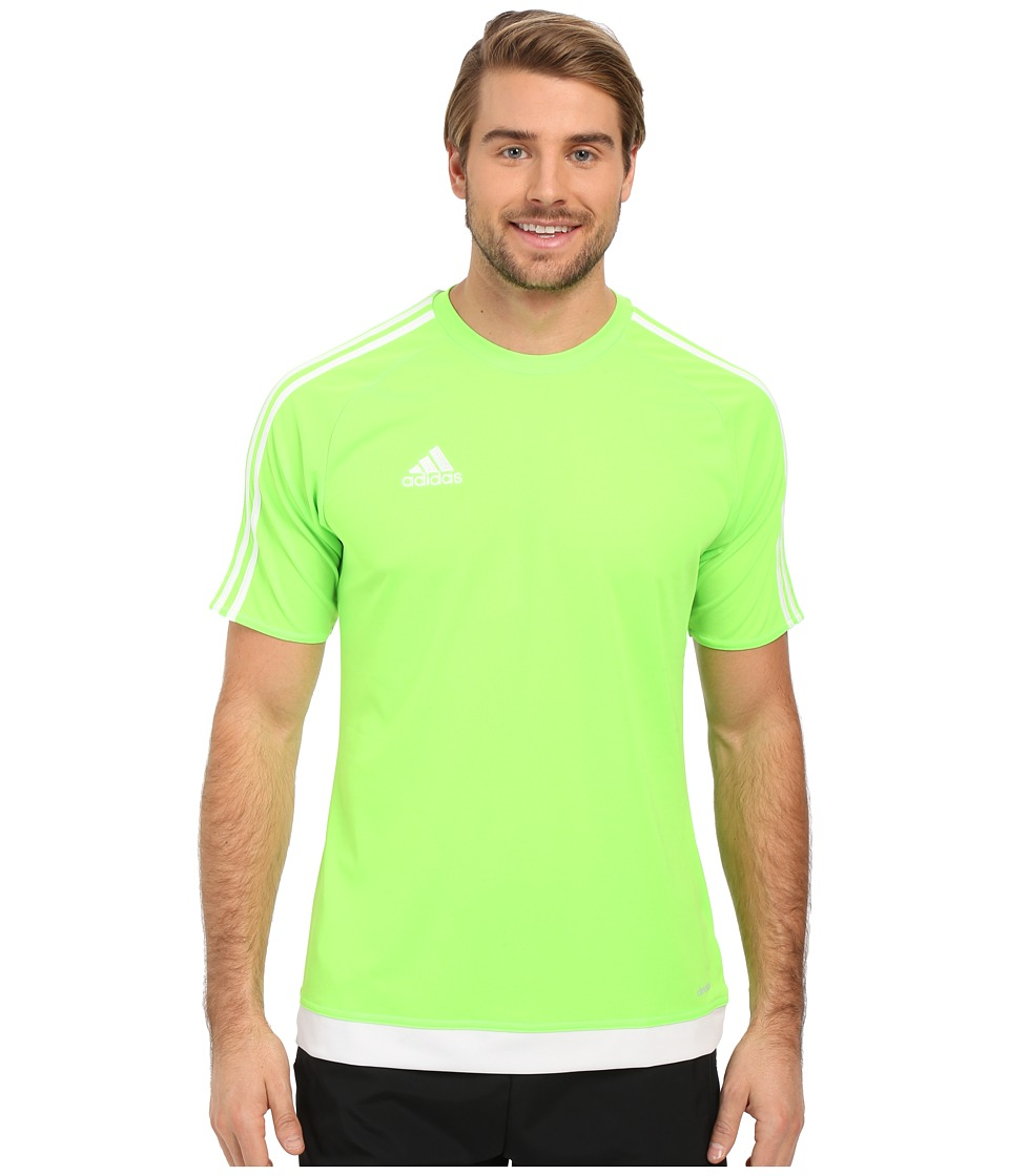 adidas - Estro 15 Jersey (Solar Green/White) Men's Short Sleeve Pullover