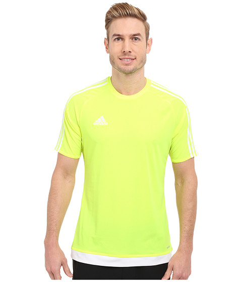 adidas - Estro 15 Jersey (Solar Yellow/White) Men's Short Sleeve Pullover