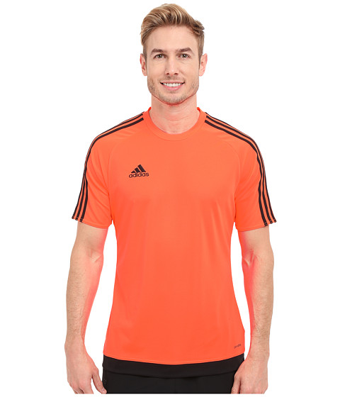 adidas - Estro 15 Jersey (Solar Orange/Black) Men's Short Sleeve Pullover
