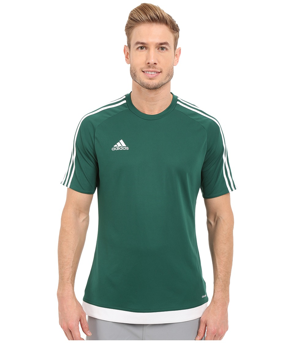 adidas - Estro 15 Jersey (Collegiate Green/White) Men's Short Sleeve Pullover