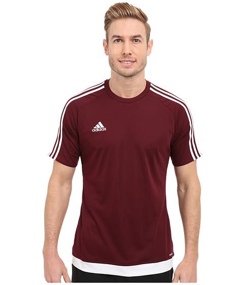 adidas - Estro 15 Jersey (Maroon/White) Men's Short Sleeve Pullover