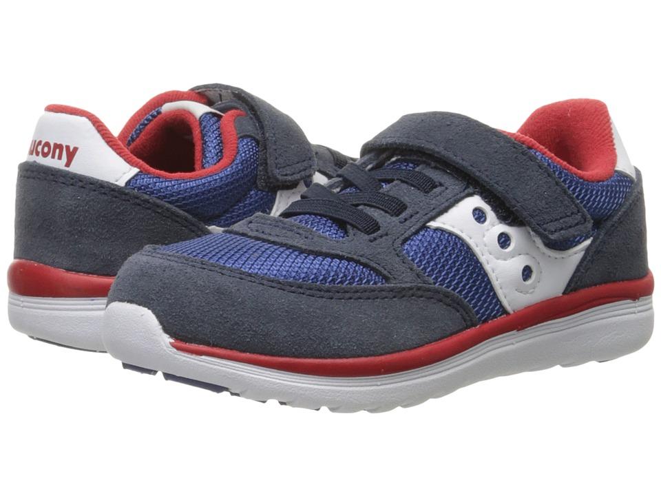 Saucony Kids Originals Jazz Lite (Toddler/Little Kid) (Navy/Cobalt/Red) Boys Shoes