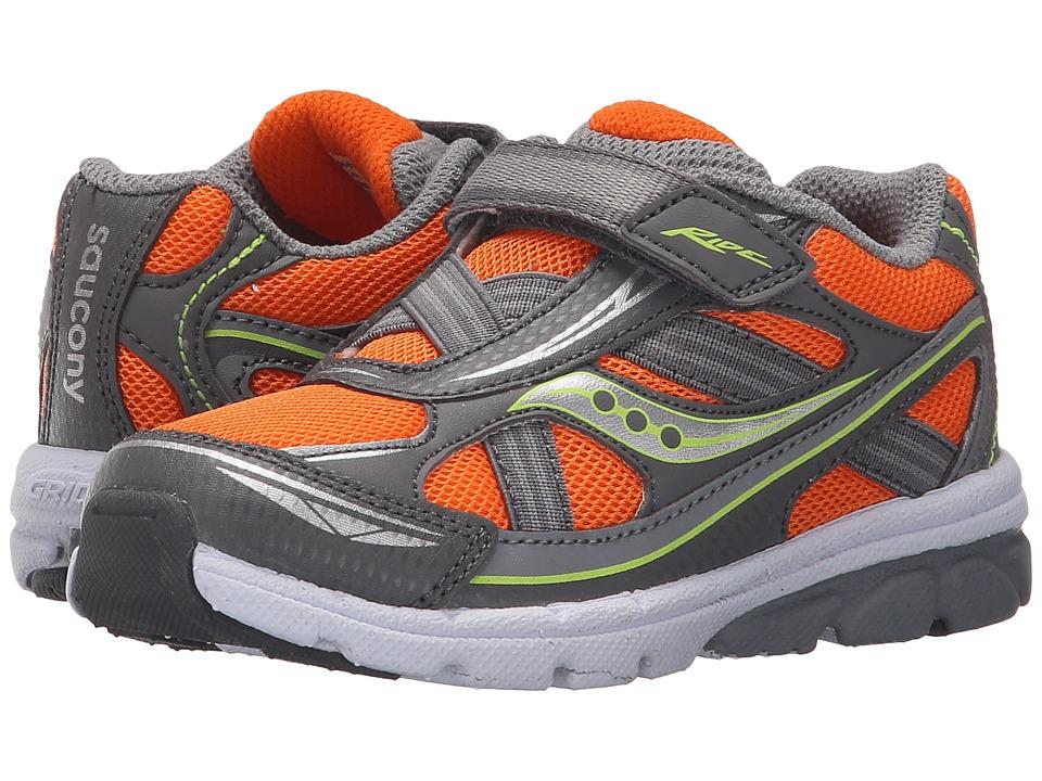 Saucony Kids Ride (Toddler/Little Kid) (Orange/Grey) Boys Shoes
