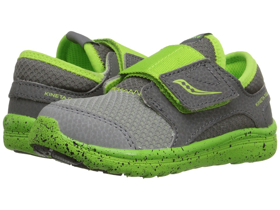 Saucony Kids - Kineta A/C (Toddler) (Grey/Green) Boys Shoes