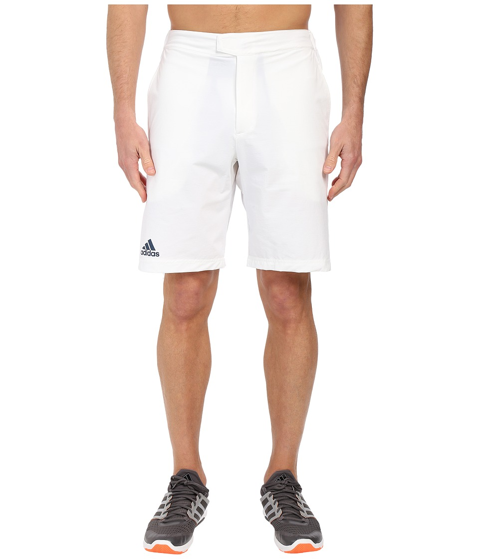 adidas - Barricade Bermuda Shorts (White/Mineral Blue) Men's Shorts