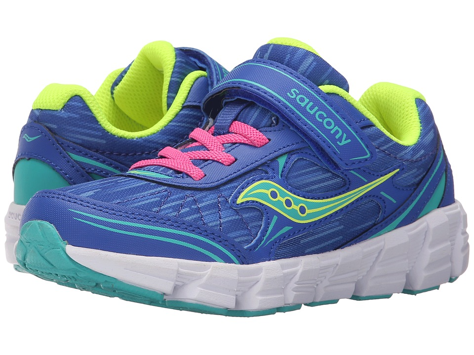 Saucony Kids - Kotaro 2 A/C (Little Kid) (Blue/Turquoise) Girls Shoes