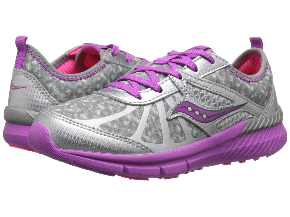 Saucony Kids - Volt (Little Kid) (Grey/Print/Magenta) Girls Shoes