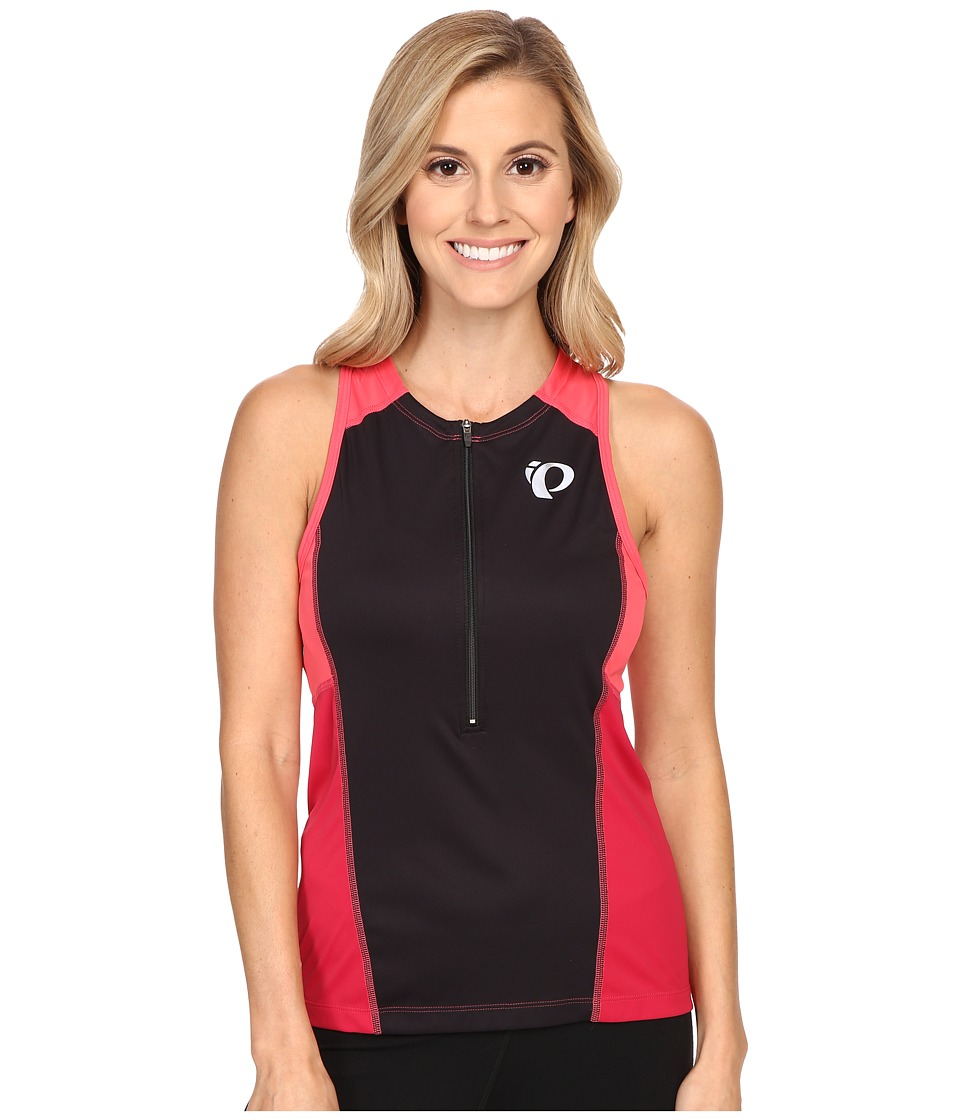 Pearl Izumi - Select Pursuit Tri Sleeveless Jersey (Black/Cerise) Women's Sleeveless