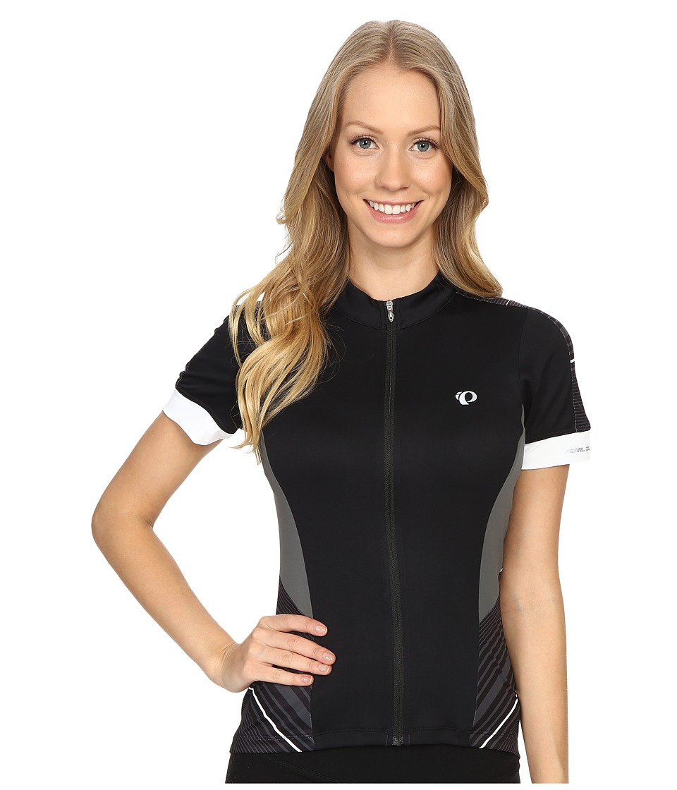 Pearl Izumi - Elite Pursuit Short Sleeve Jersey (Black Stripe) Women's Clothing