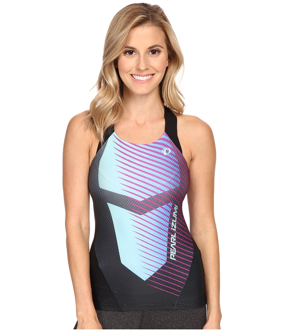 Pearl Izumi - W P.R.O. In-R-Cool Tri Singlet (Black/Aqua Fade) Women's Workout