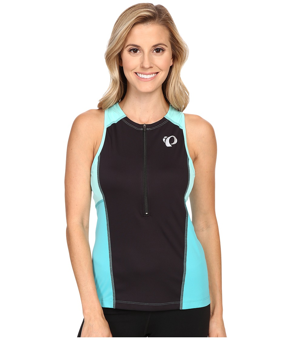 Pearl Izumi - Select Pursuit Tri Sleeveless Jersey (Black/Aqua Mint) Women's Sleeveless