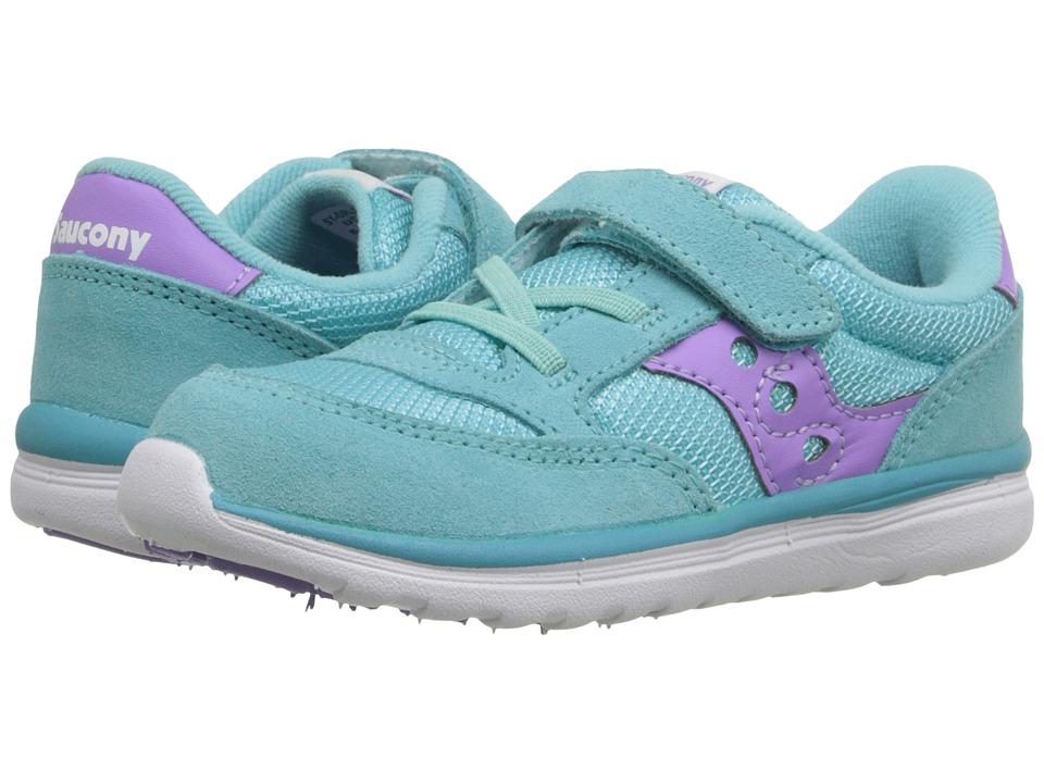 Saucony Kids - Jazz Lite (Toddler/Little Kid) (Turquoise/Purple) Girls Shoes