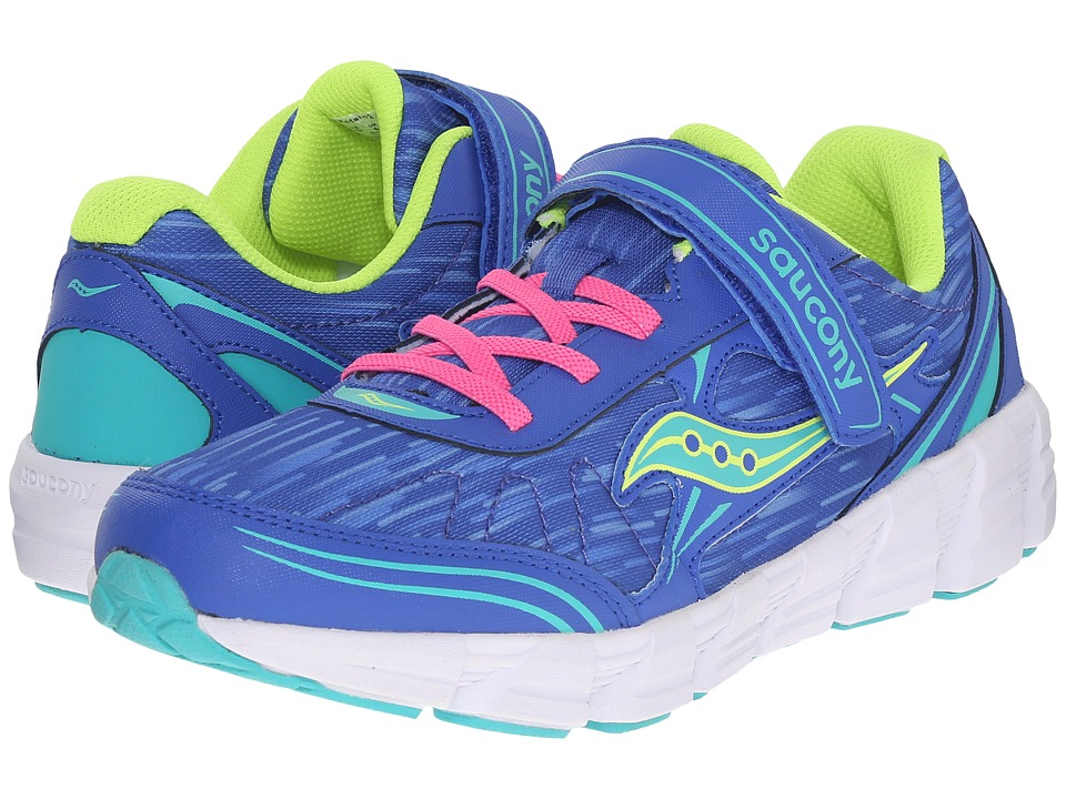 Saucony Kids - Kotaro 2 A/C (Big Kid) (Blue/Turquoise) Girls Shoes