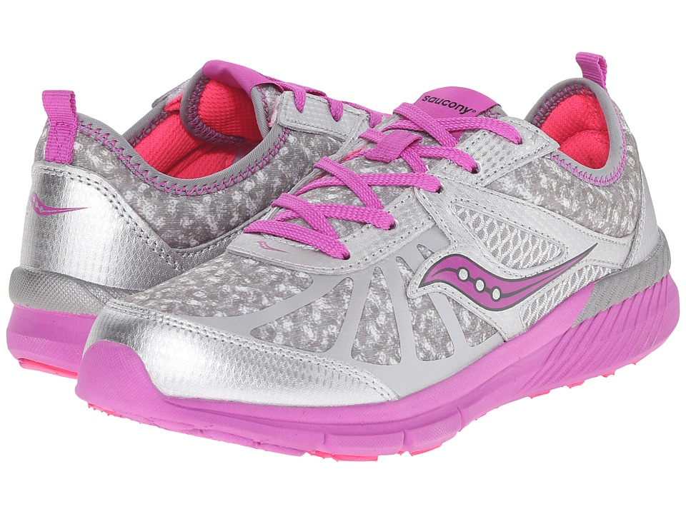 Saucony Kids - Volt (Big Kid) (Grey/Print/Magenta) Girls Shoes