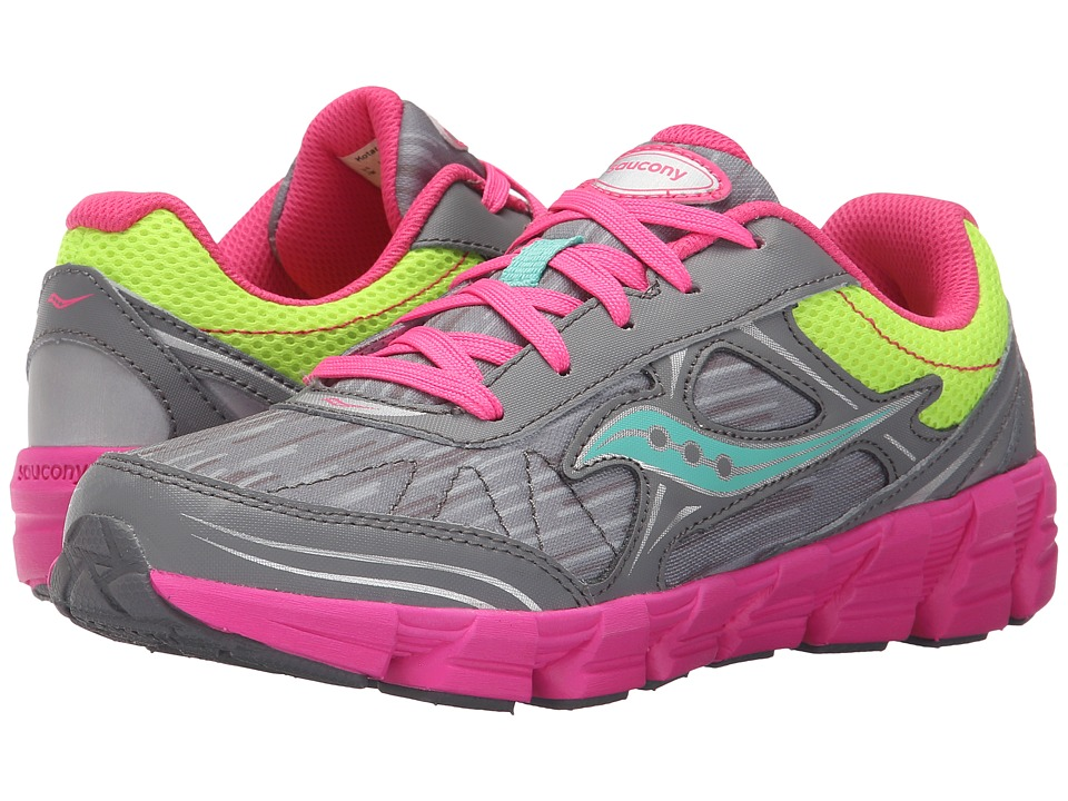Saucony Kids - Kotaro 2 (Big Kid) (Grey/Multi) Girls Shoes