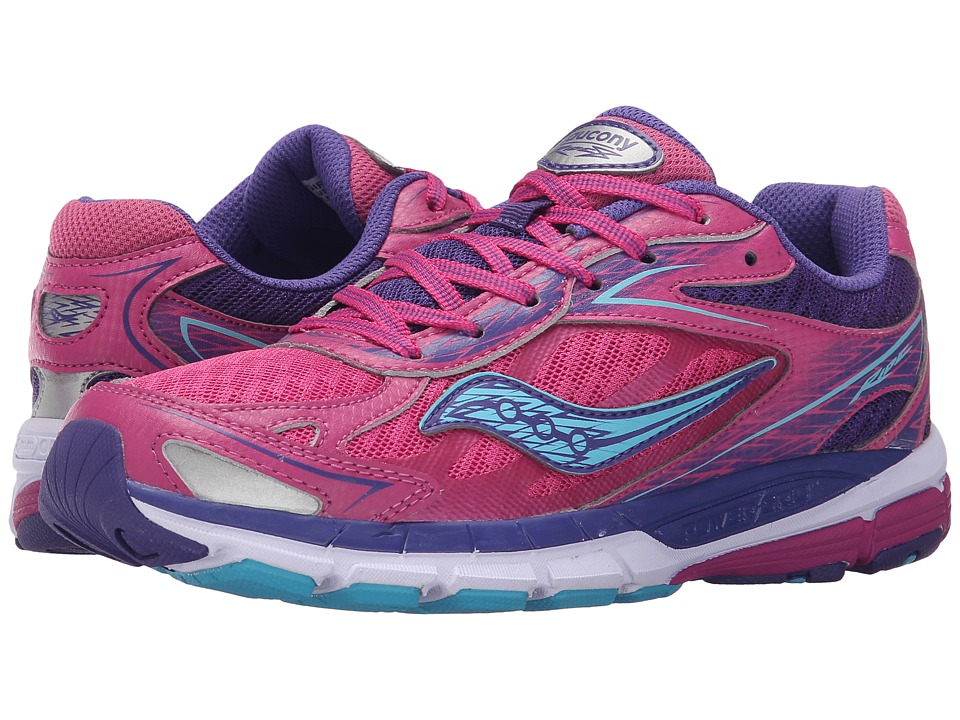 Saucony Kids - Ride 8 (Little Kid/Big Kid) (Pink/Purple) Girls Shoes