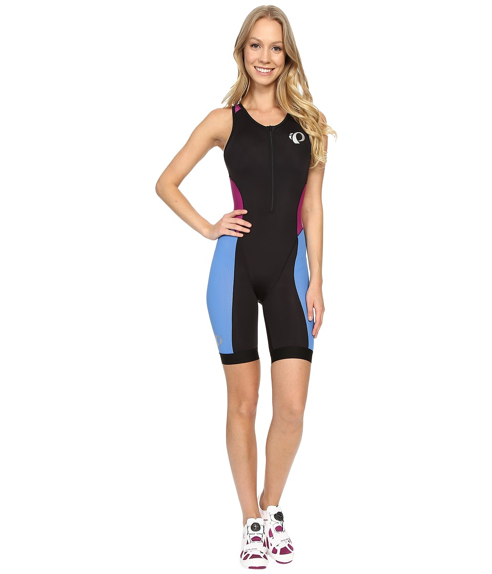 Pearl Izumi - Elite Pursuit Tri Suit (Black/Sky Blue) Women's Cycling Bibs One Piece