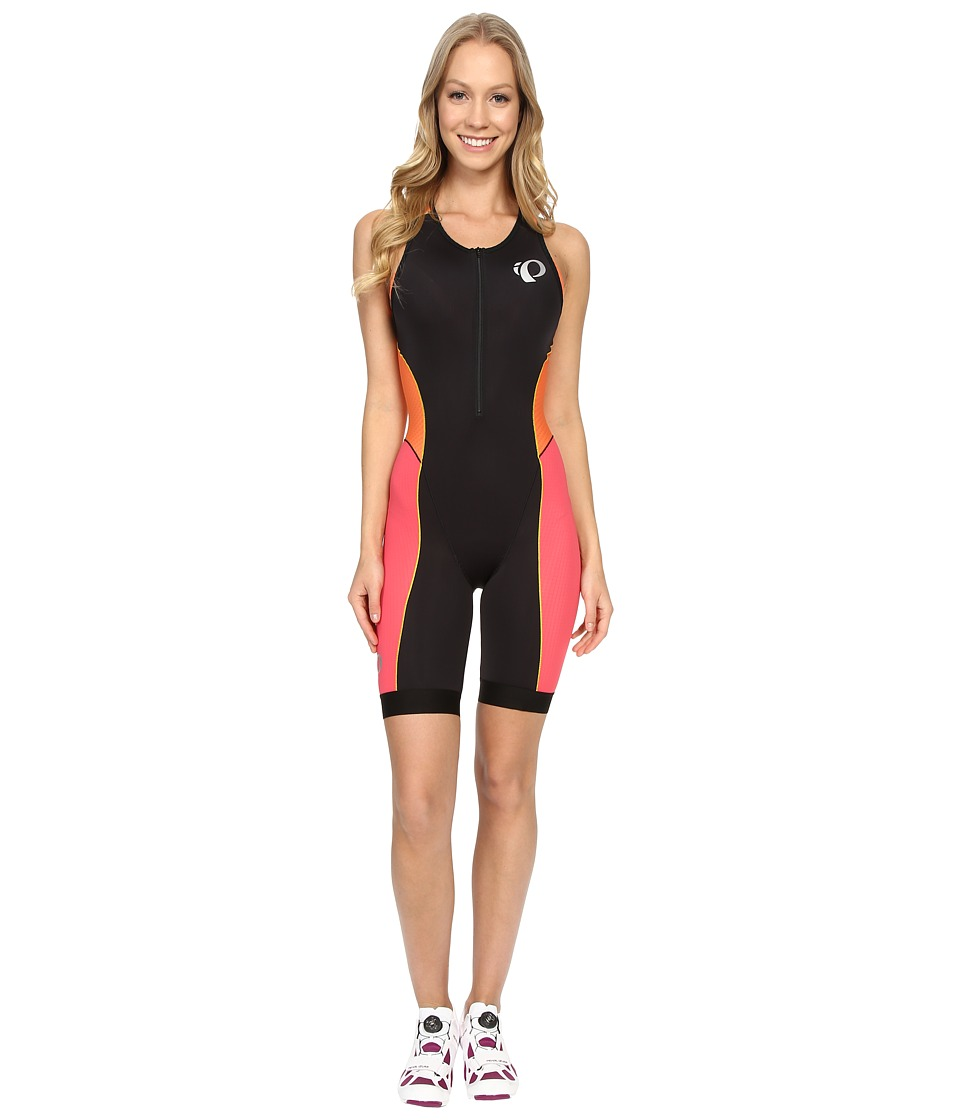 Pearl Izumi - Elite Pursuit Tri Suit (Black/Clementine) Women's Cycling Bibs One Piece