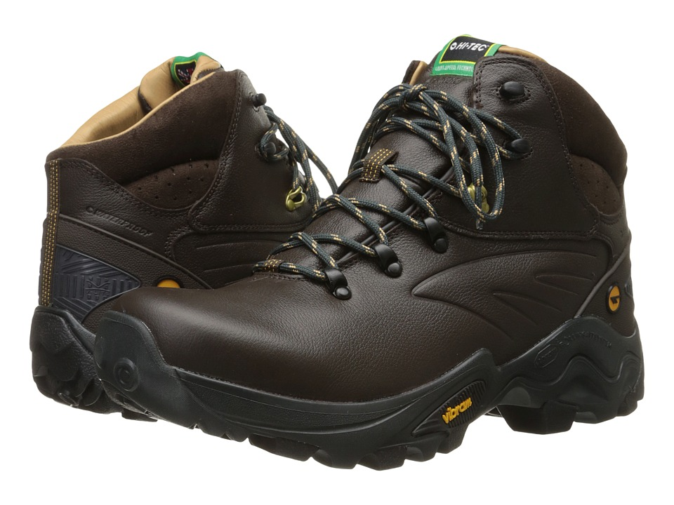 Hi-Tec - V-Lite Flash Hike I-Shield Waterproof (Chocolate/Core Gold) Men's Boots