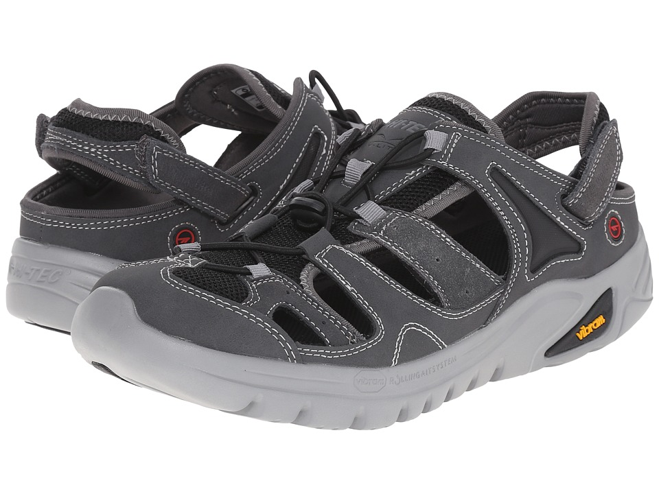 Hi-Tec - V-Lite Walk-lite Shandal RGS (Charcoal/Black/Red) Men's Sandals