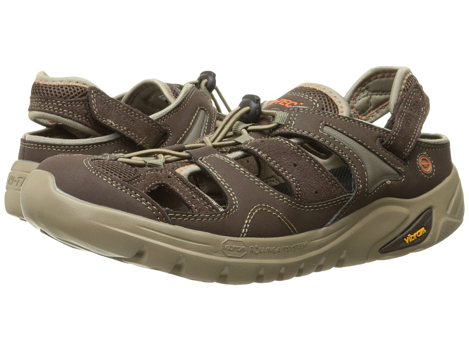 Hi-Tec - V-Lite Walk-lite Shandal RGS (Dark Chocolate/Burnt Orange) Men's Sandals