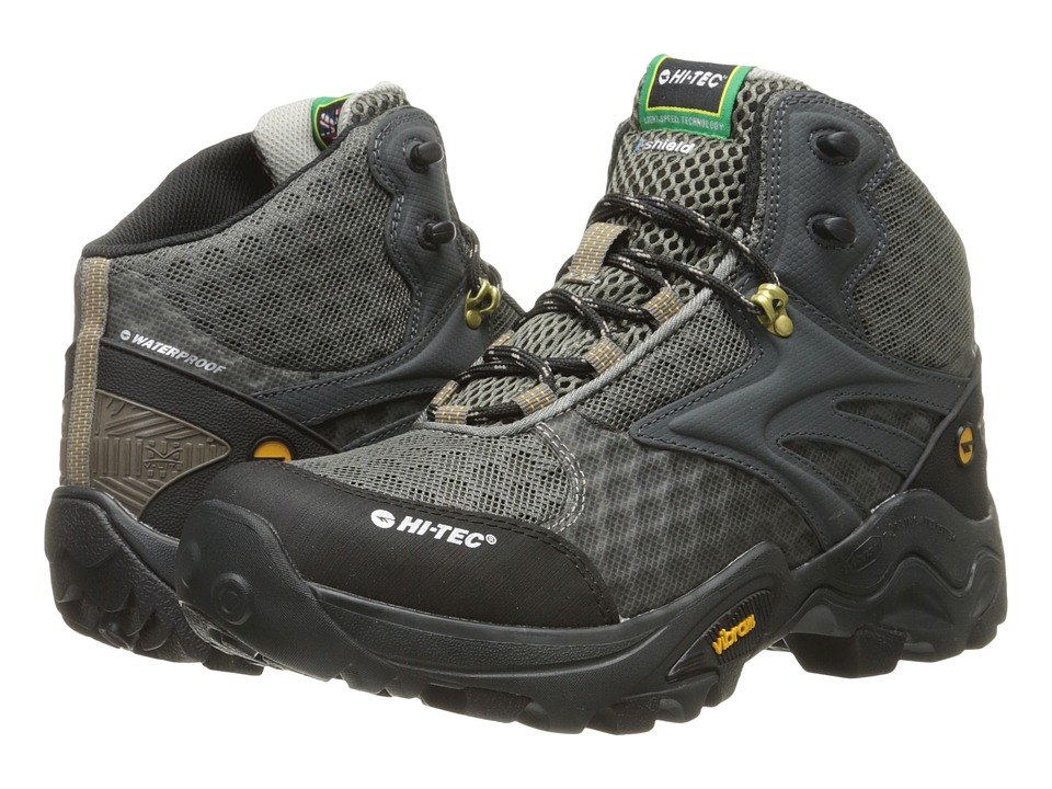 Hi-Tec - V-Lite Flash Fast Hike I-Shield Waterproof (Smokey Brown/Core Gold) Men