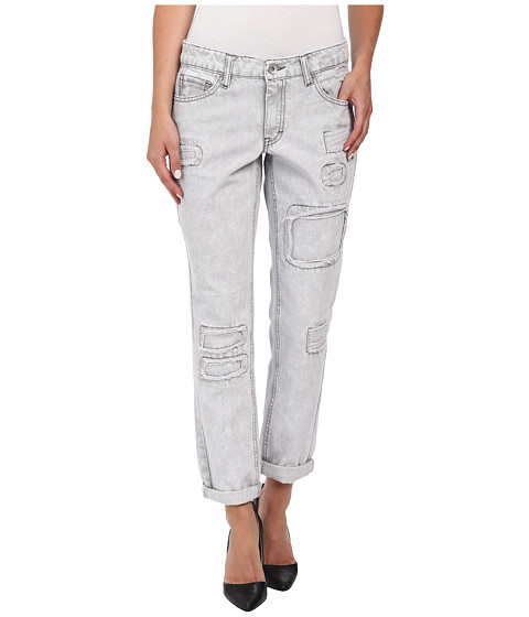 dollhouse - Rip and Repair Rigid Boyfriend Capri Jeans in Reed (Reed) Women's Jeans