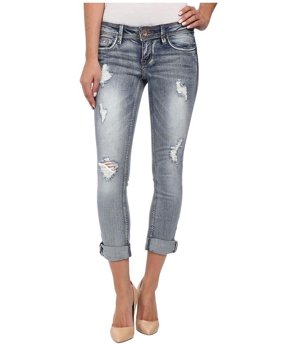 dollhouse - Light Wash Rolled Cuff Capri Jeans in Wheatgrass (Wheatgrass) Women's Jeans