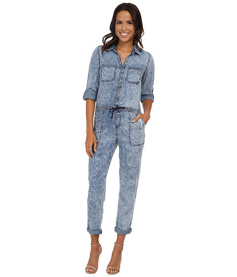 dollhouse - Acid Wash Jumpsuit in Azur (Azur) Women's Jumpsuit & Rompers One Piece