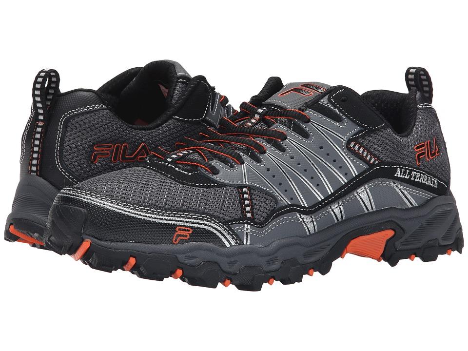 Fila - At Tractile (Pewter/Black/Vibrant Orange) Men's Shoes