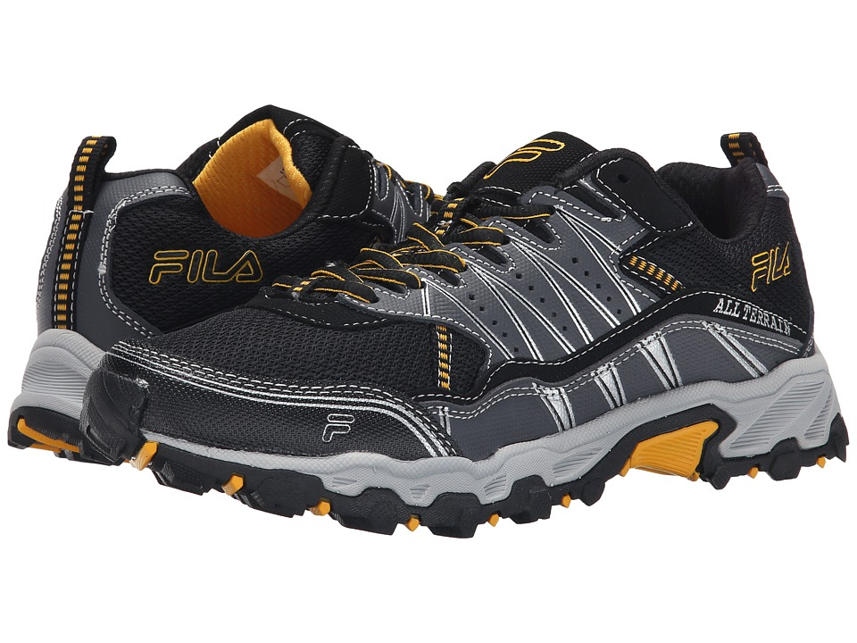 Fila - At Tractile (Black/Castlerock/Gold Fusion) Men's Shoes