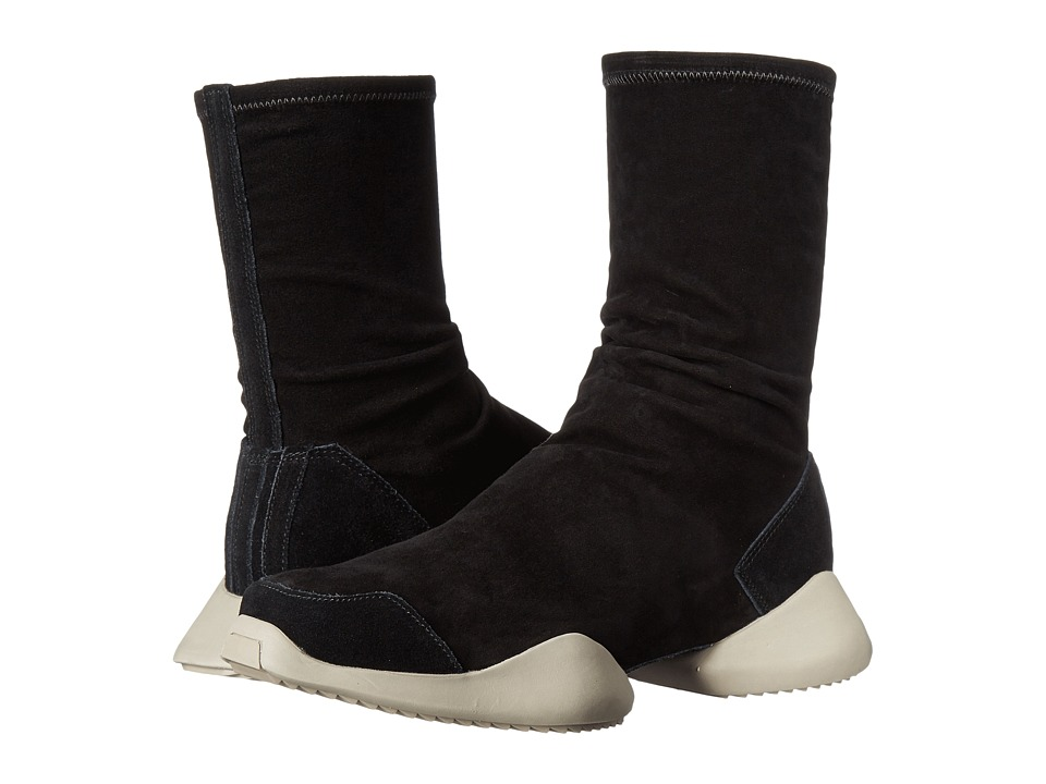 adidas by Rick Owens Runner Ankle Boot (Black/Black/RO Milk) Pull-on Boots