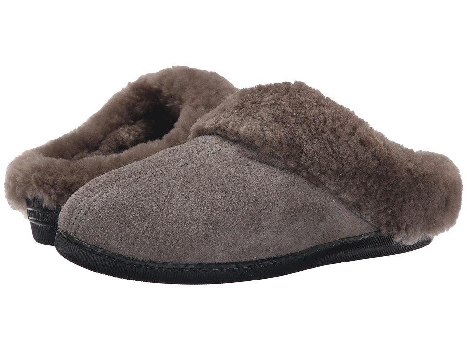 Minnetonka - Sheepskin Mule (Grey) Women's Shoes