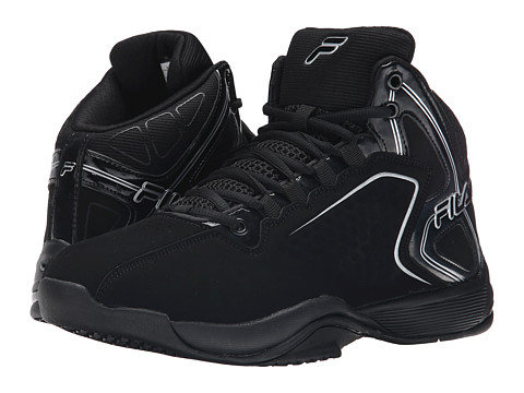 Fila - Big Bang 4 (Black/Black/Metallic Silver) Men