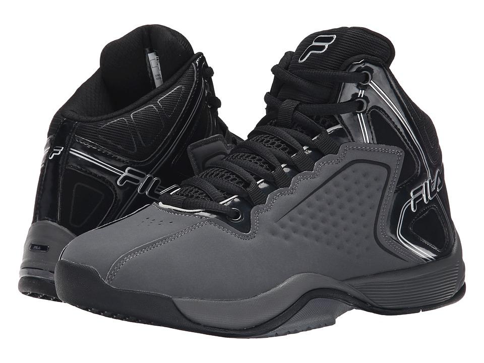 Fila - Big Bang 4 (Castlerock/Black/Metallic Silver) Men's Basketball Shoes