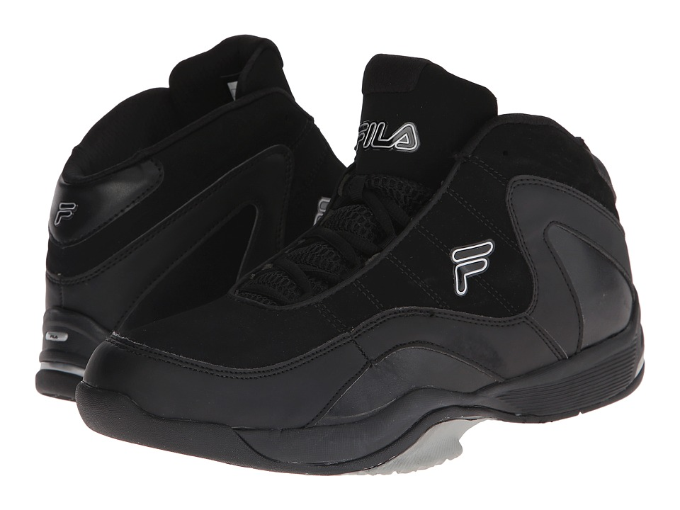 Fila - Sweeper (Black/Black/Metallic Silver) Men's Shoes