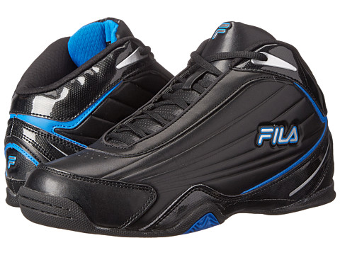 Fila - Slam 12C (Black/Electric Blue/Metallic Silver) Men