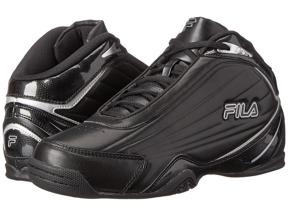 Fila - Slam 12C (Black/Black/Metallic Silver) Men's Basketball Shoes