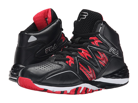 Fila - Posterizer (Black/Fila Red) Men's Shoes