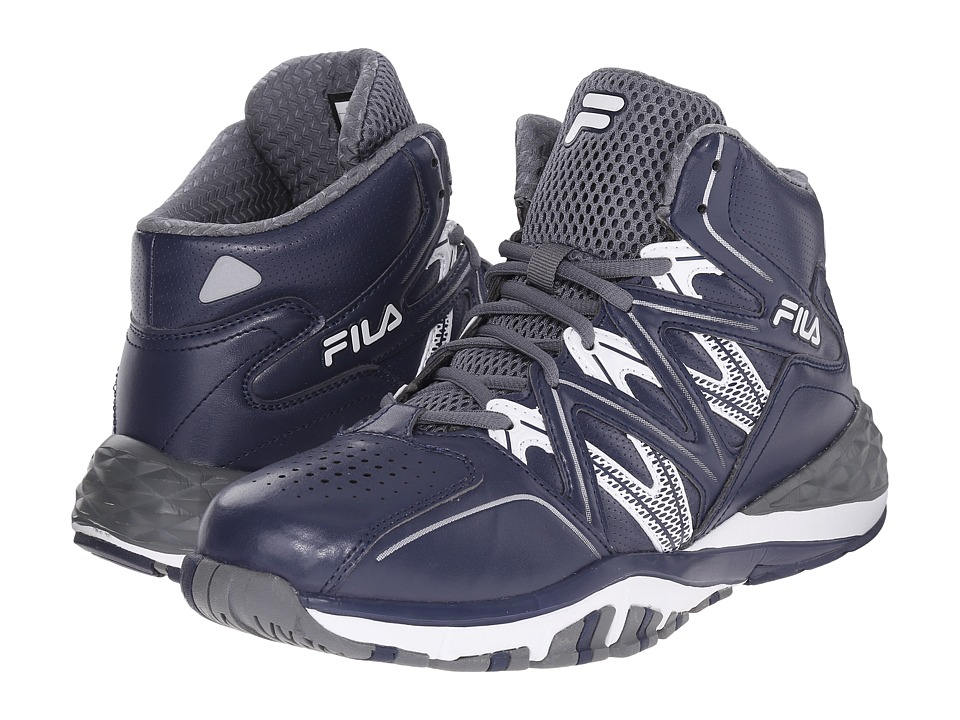 Fila - Posterizer (Fila Navy/Castlerock/White) Men's Basketball Shoes