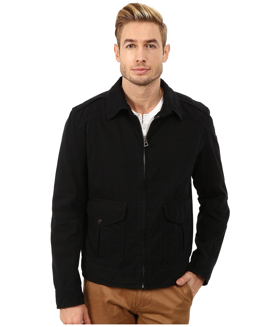 BOSS Orange - Odilo-W Short Cotton Blouson with Shirt Collar Jacket (Black) Men's Coat