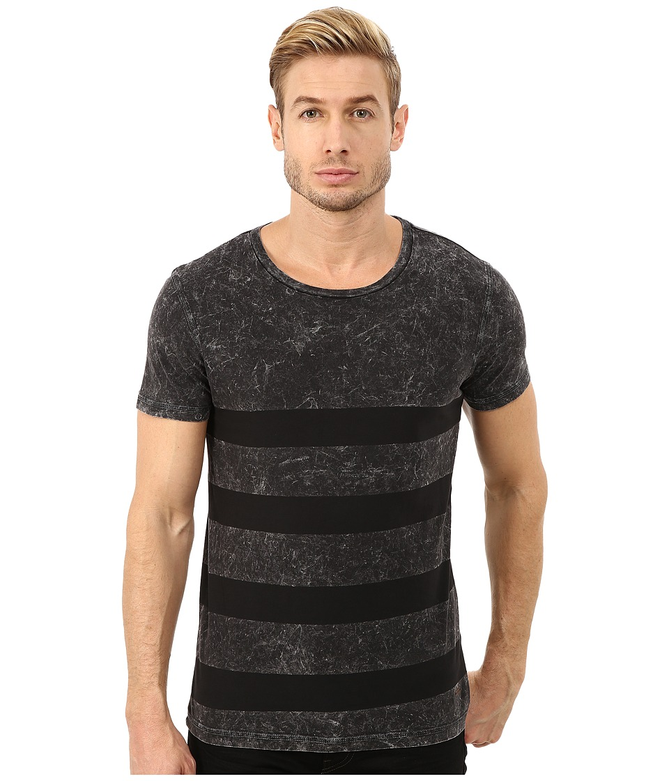 BOSS Orange - Tilston Block Striped Short Sleeve Crew T-Shirt (Black) Men