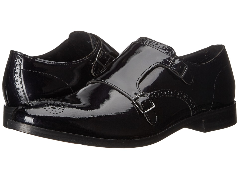 Cole Haan - Cambridge Double Monk (Black Patent) Men's Monkstrap Shoes