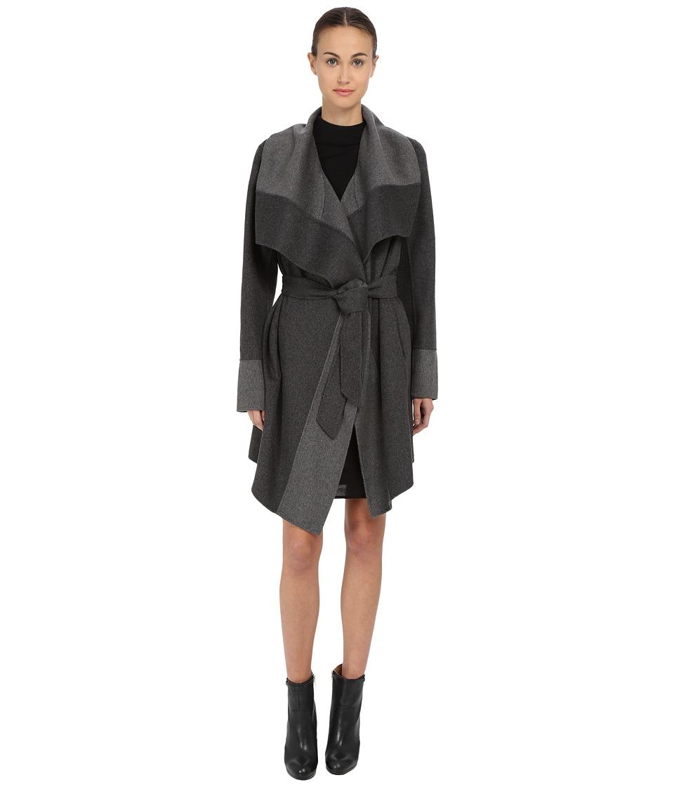 Diane von Furstenberg - Mackenzie (Charcoal/Grey) Women's Coat