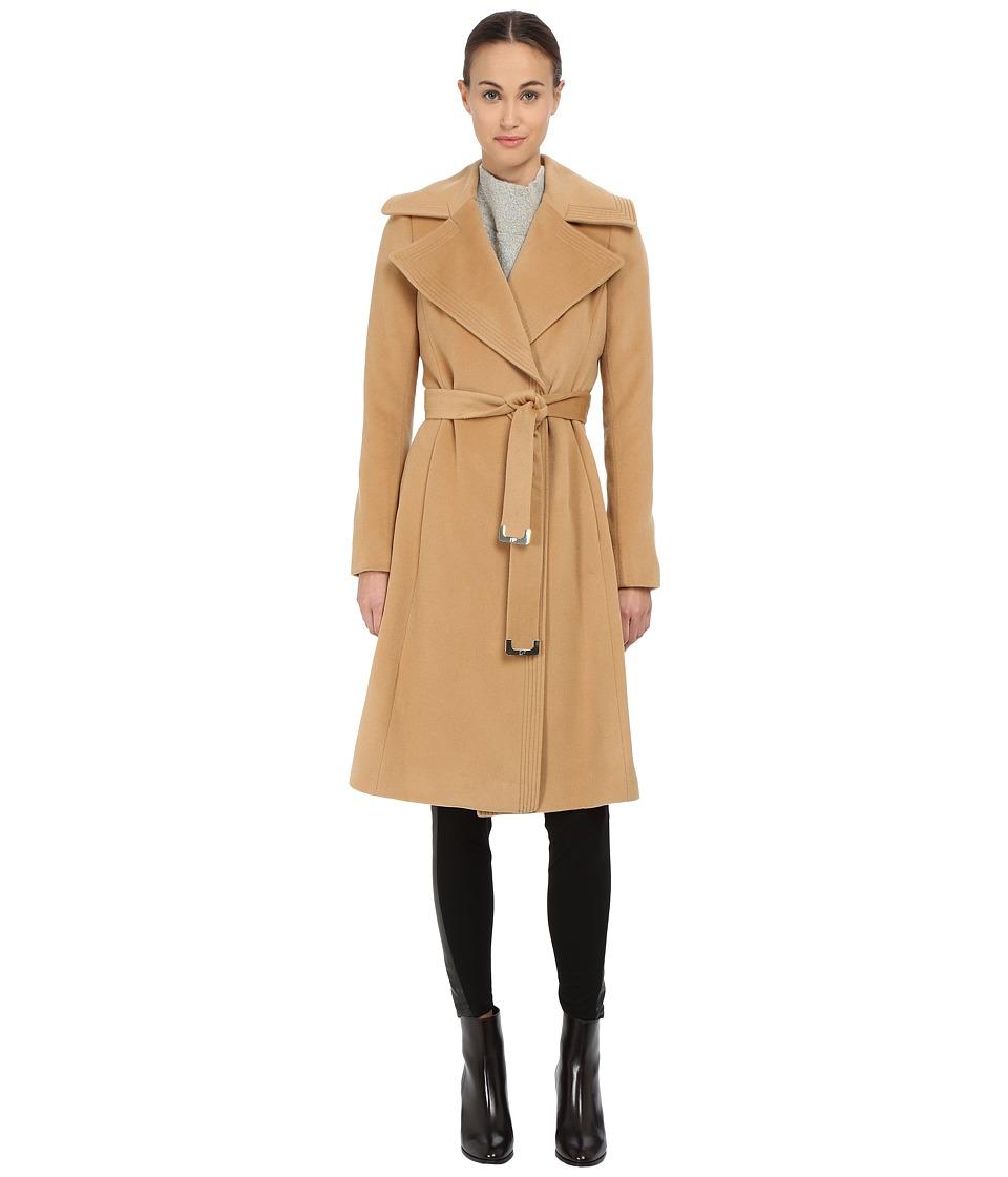 Diane von Furstenberg - Wrap Coat (Camel) Women's Coat